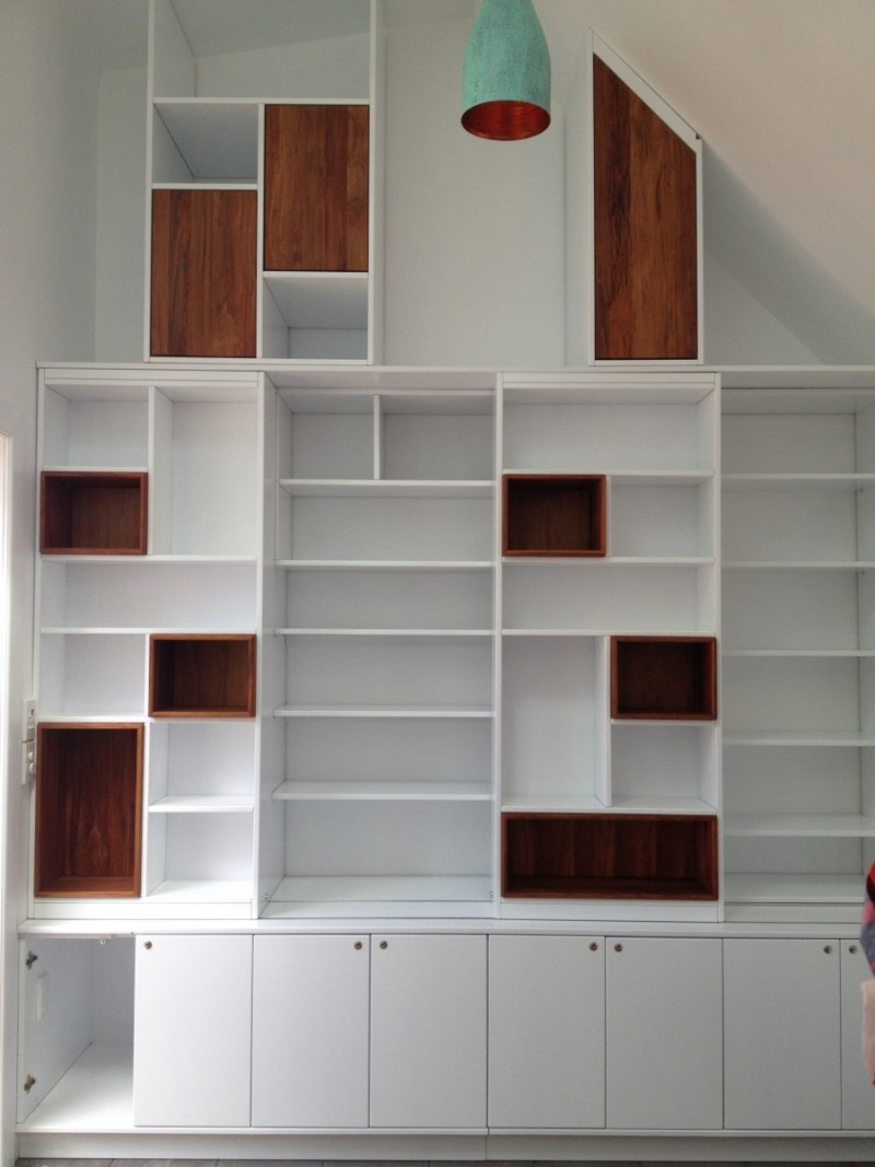 Custom Wall Unit Rimu Boxes | KC Furniture